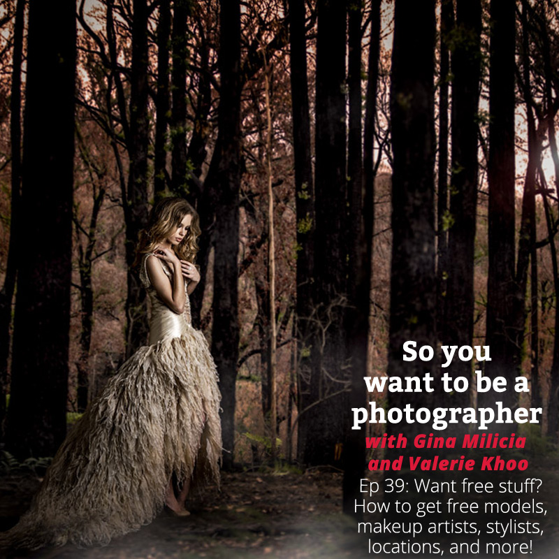 Woman in dark woods wearing a gold-white dress and looking at the ground with the episode title in the bottom right hand corner