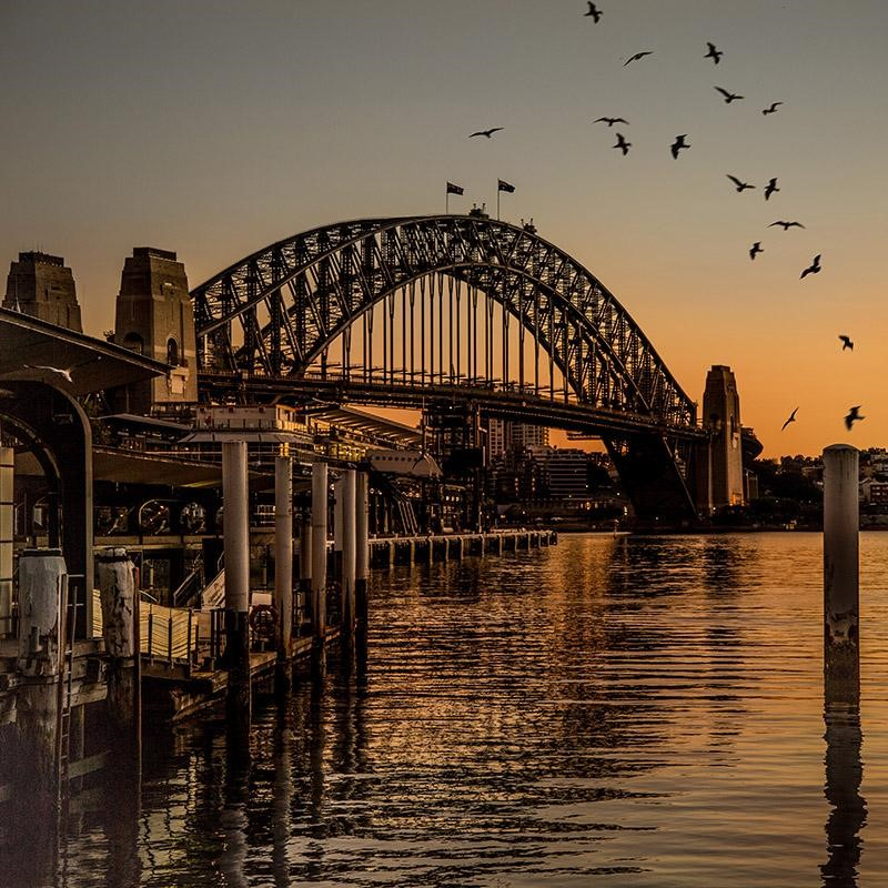 I photographed this sunrise over Sydney Harbour earlier this year.
