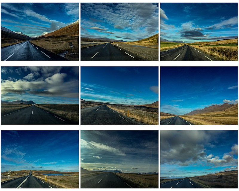 road-and-sky-in-iceland-collage