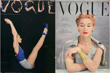 1940s vogue covers with loose crop