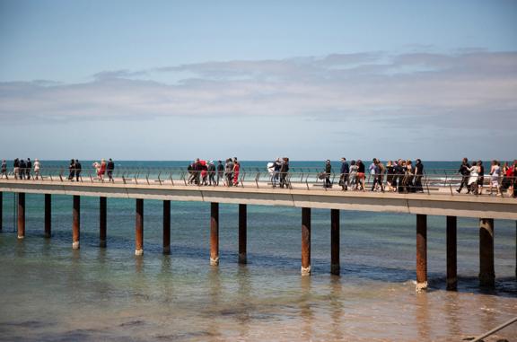 wedding on a pier